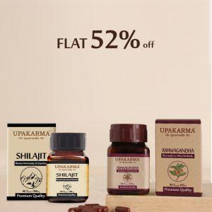 shilajit, ashwagandha capsules, upakarma ayurveda