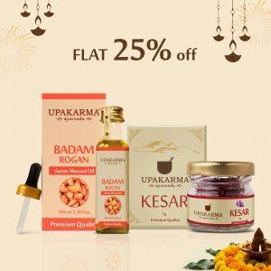 sweet almond oil, badam rogan oil, upakarma ayurveda