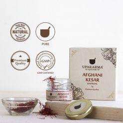 afghani kesar, saffron, kashmiri kesar, upakarma ayurveda