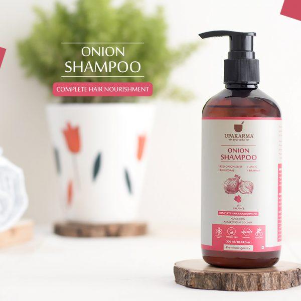 onion shampoo, upakarma ayurveda