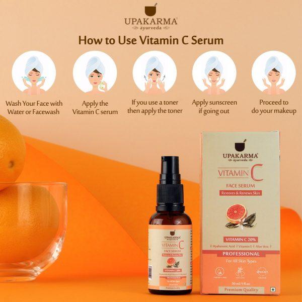 vitamin c face serum, upakarma ayurveda