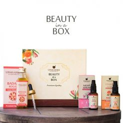 gift box, vitamin c face serum, night serum, upakarma ayurveda