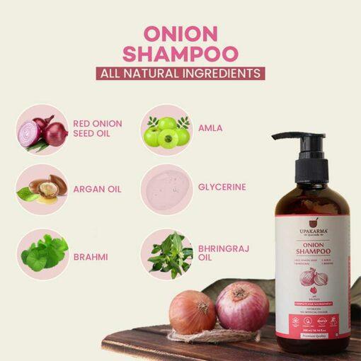 onion oil, onion shampoo, upakarma ayurveda