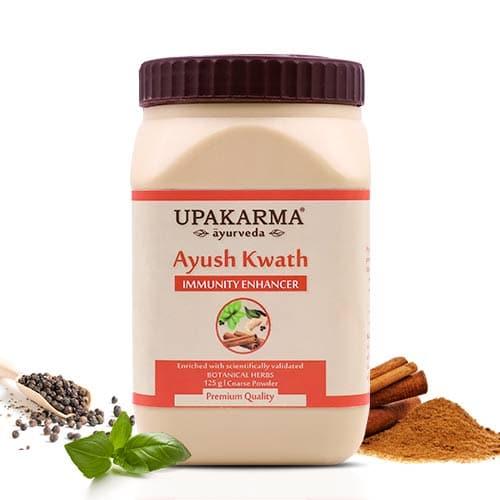 ayush kwath, kadha powder, upakarma ayurveda
