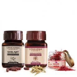 shilajit capsules, ashwagandha capsules, kesar