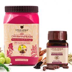 ashwagandha capsules, Chyawanprash