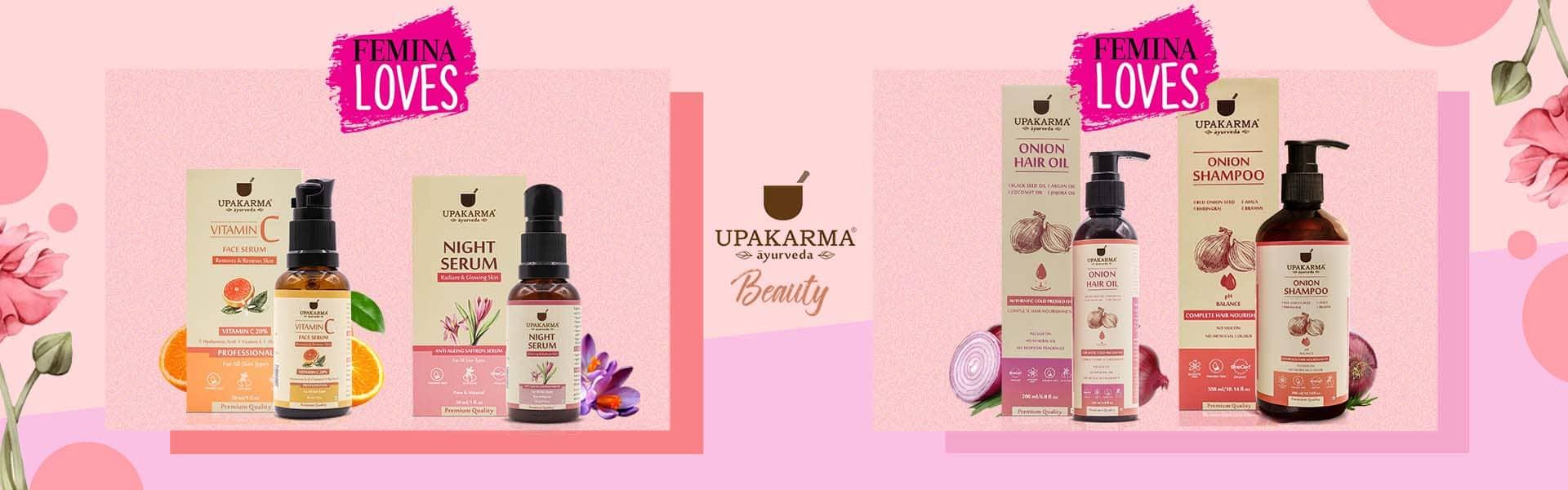 beauty products, upakarma ayurveda