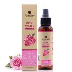 rose water, gulab jal, upakarma ayurveda