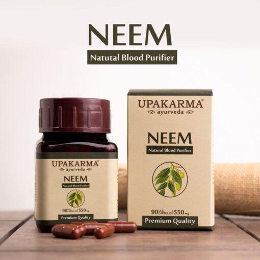 neem capsules, blood purifier, upakarma neem capsules, upakarma ayurveda