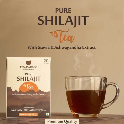 green tea, shilajit tea, healthy tea, upakarma shilajit tea