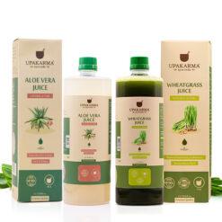 aloe vera juice, wheatgrass juice, upakarma ayurveda