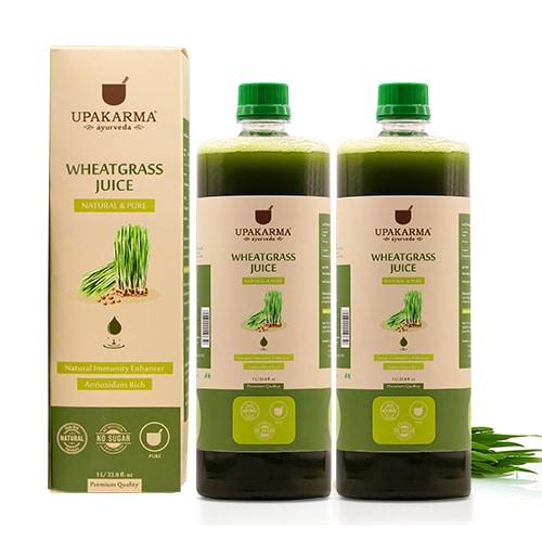 wheatgrass juice, upakarma wheathrass juice