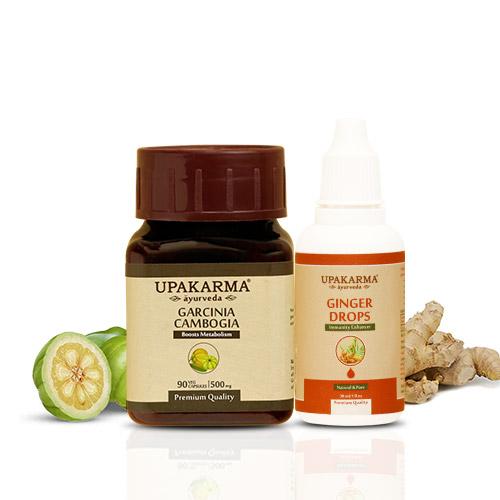 garcinia capsules, ginger drops