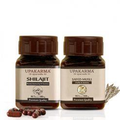shilajit capsules, safed musli capsules
