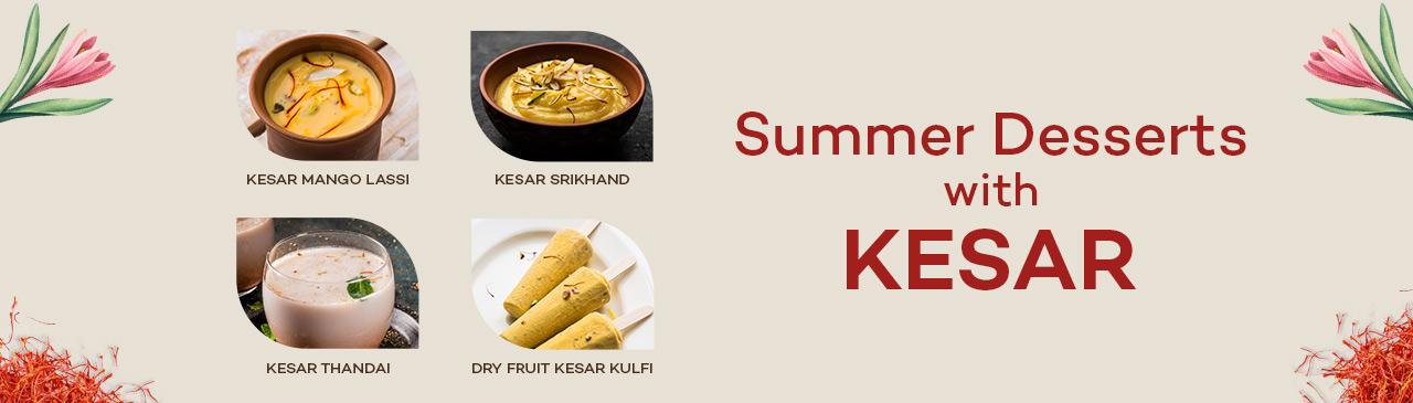 summer dessert with kesar