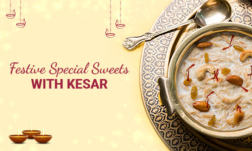festive special sweet with kesar